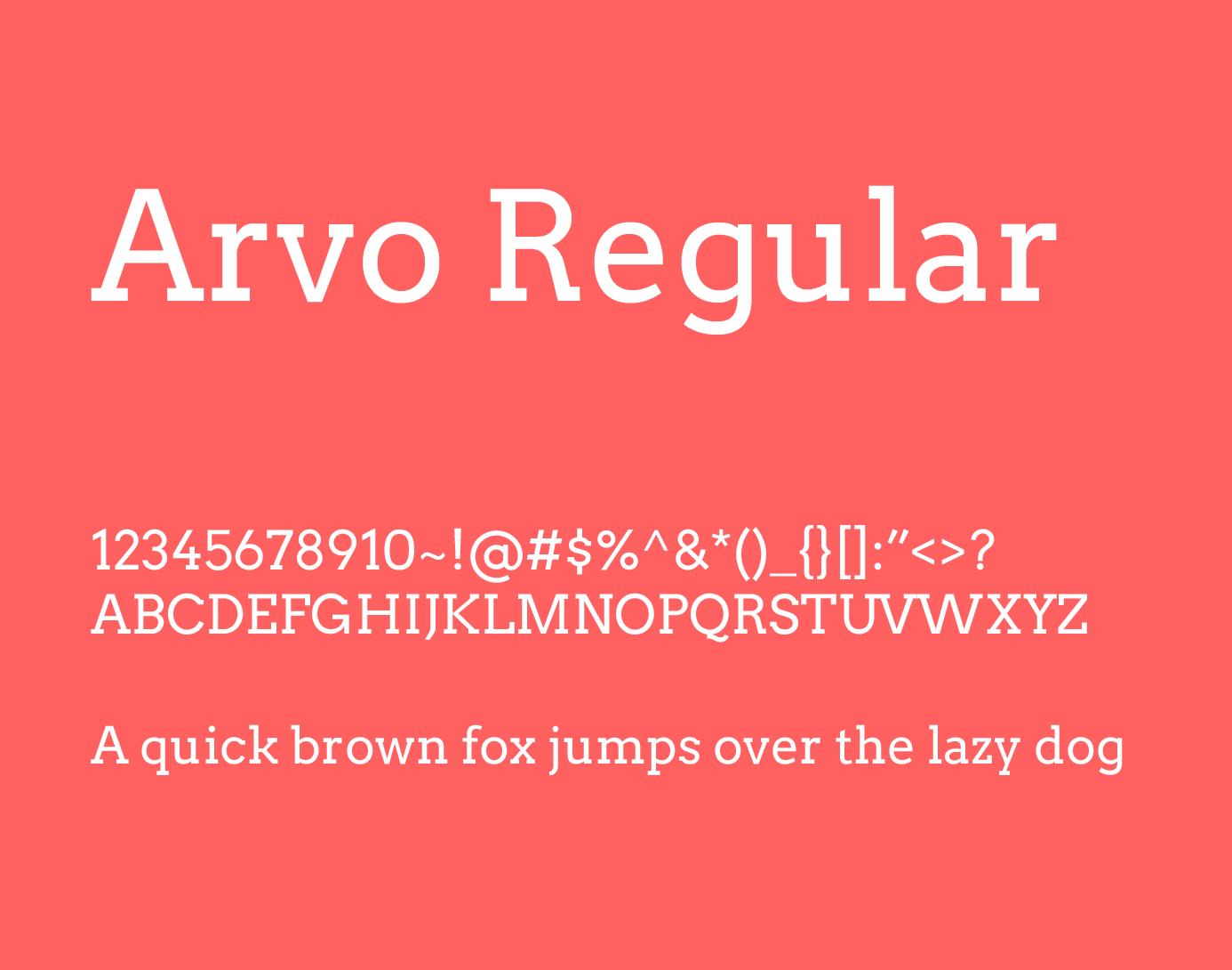 arvo font style