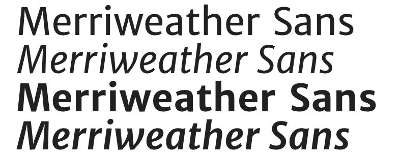 merriweather font type