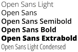 open sans font for designers