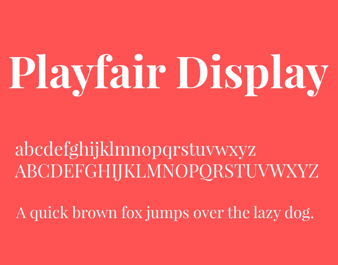 playfair display font type