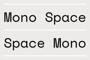 mono space font