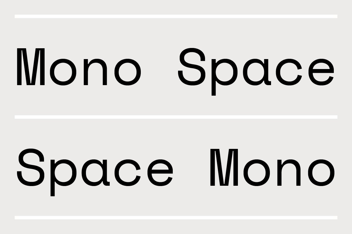 space mono fonts for graphic designers