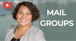 create email groups in proofing tools