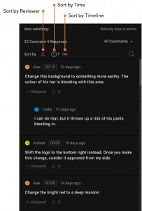 sort comments video