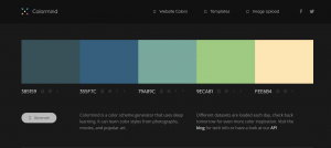 colormind - AI based color palette tool