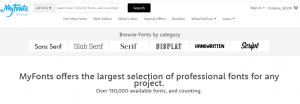 Myfonts - Digital font distributor