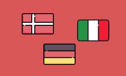 german danish italian features